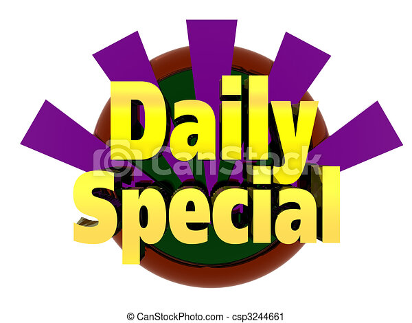 Daily Special - csp3244661