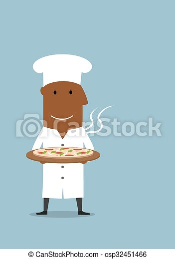 Clip art vecteur de v g tarien chef cuistot porter noir for Cuisinier vegetarien