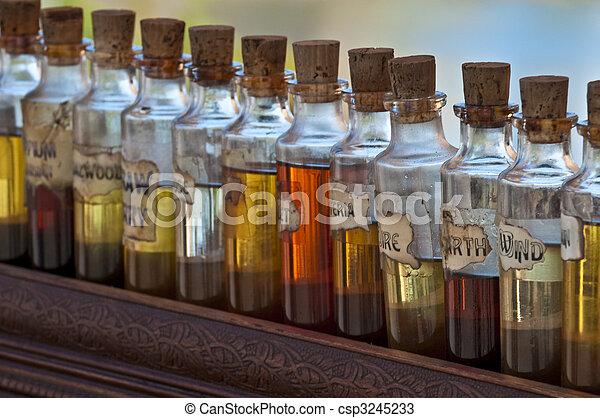 Aroma Bottles - csp3245233