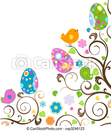 復活節, 樹 - csp3246123
