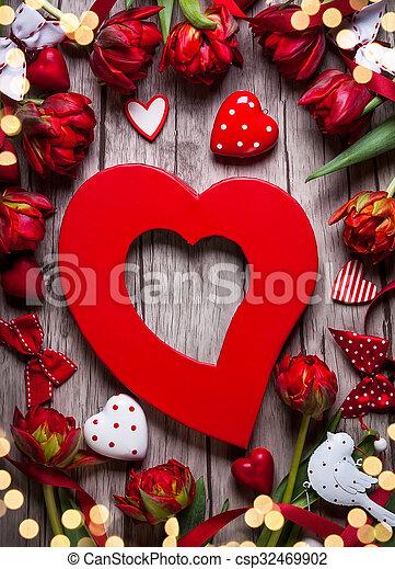 valentines, Dia, fundo - csp32469902