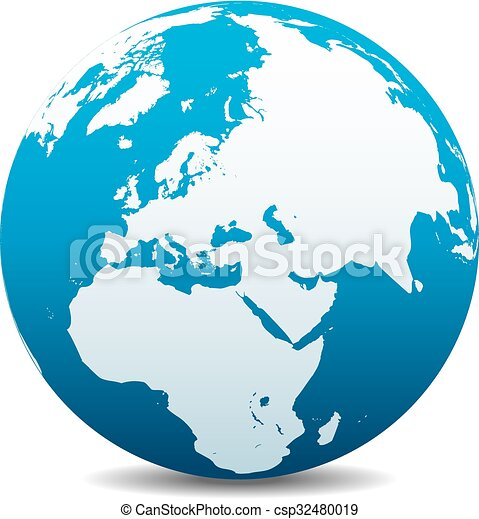 Vector Clip Art of Middle East, Russia, Europe World - Middle East ...