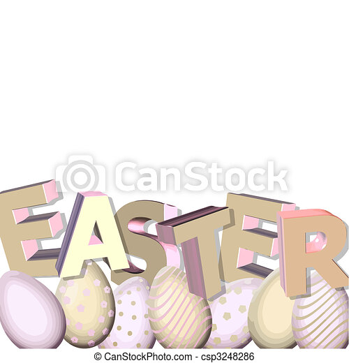 easter in 3D - csp3248286