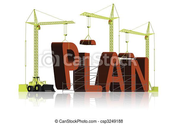 making a plan - csp3249188