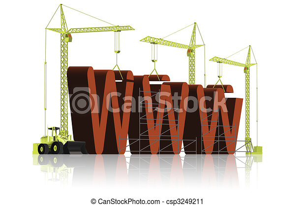 Website WWW under construction - csp3249211