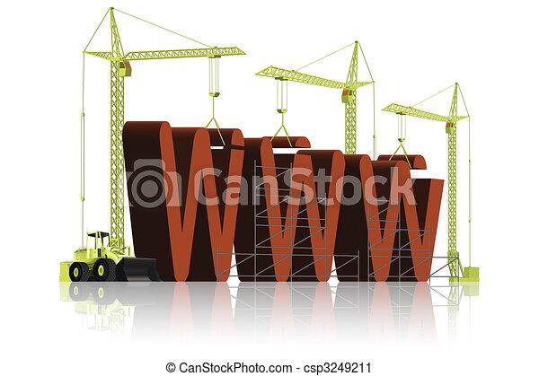 Website WWW under construction - csp3249211