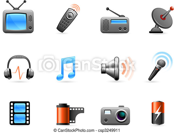 Electronics and Media icon collection - csp3249911