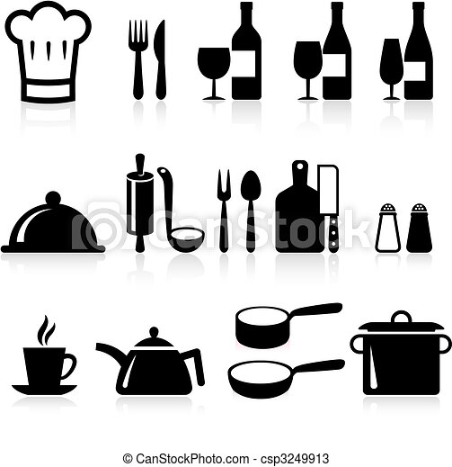 cooking items internet icon collection - csp3249913