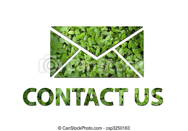 Ecological contact us symbol - csp3250163