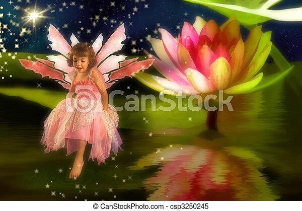 Pond Fairy - csp3250245