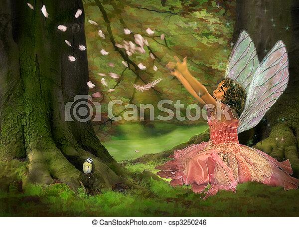 Feather Fairy - csp3250246