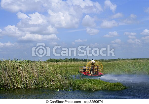 Stock Photo of Airboat in Everglades Florida Big Cypress National Preserve csp3250674 - Search ...