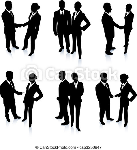 Business Team Silhouette Collection - csp3250947