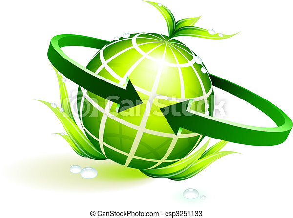 green globe with leaves - csp3251133