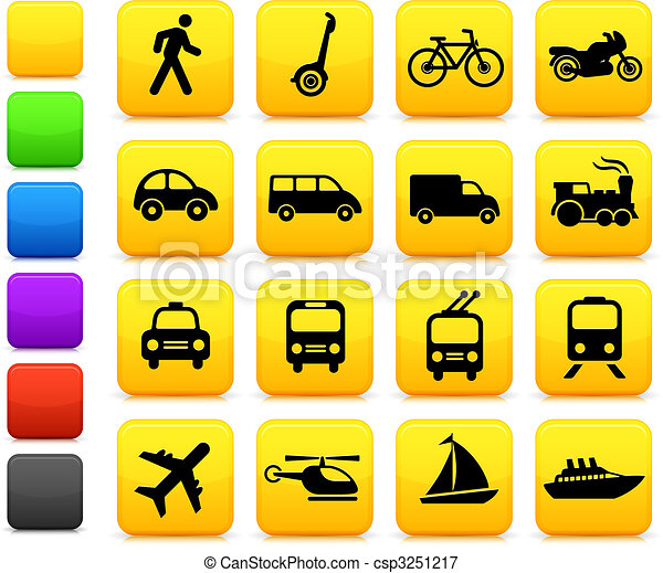 Transportation icons design elements - csp3251217