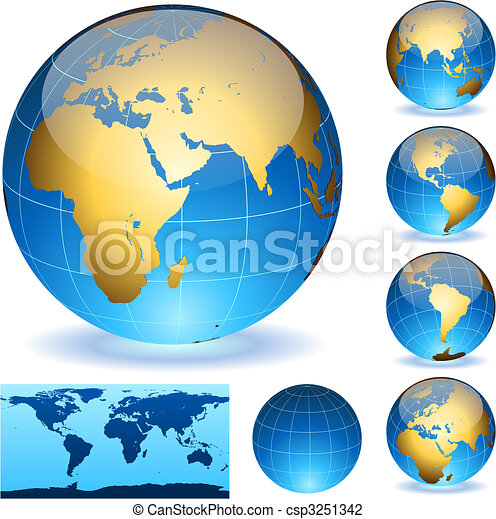 Earth globes - csp3251342