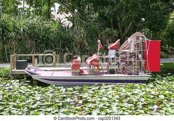 Everglades airboat in South Florida, National Park  - csp3251343