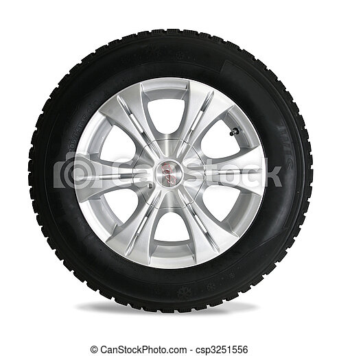 Tire isolated on white - csp3251556