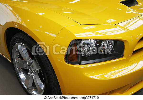 Yellow muscle car - csp3251710