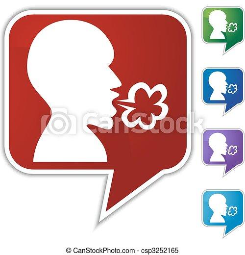 Illness Speech Balloon Icon Set - csp3252165