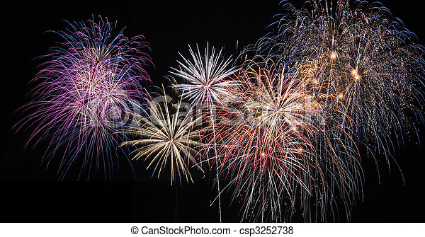 Fireworks celebration - csp3252738