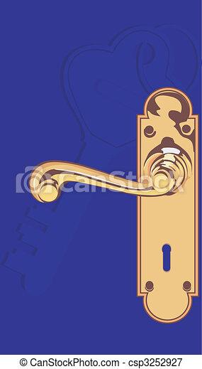 Stock illustrations of door lock illustration of door - Door handle clipart ...