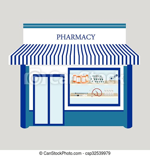 Vectors Illustration of Pharmacy drugstore shop - Vector ...