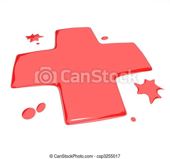 Blood Droplets - Red Symbol - csp3255017