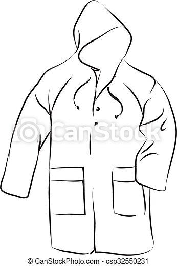 Vecteurs de manteau pluie rain manteau csp32550231 - Dessin de manteau ...