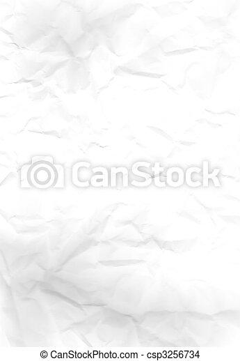 Wrinkled white paper - csp3256734