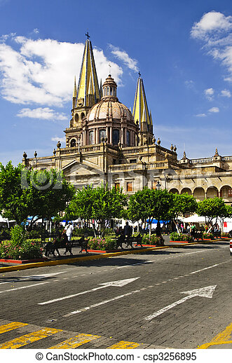 Guadalajara Cathedral in Jalisco, Mexico - csp3256895