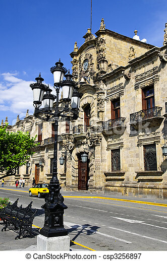 State Government Palace in Guadalajara, Jalisco, Mexico - csp3256897