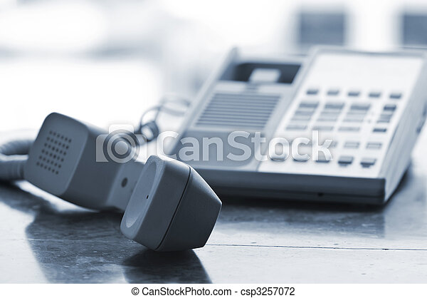 Desk telephone off hook - csp3257072
