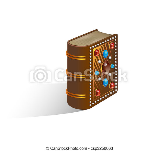 Illustration Of A Closed Decorated Bible - csp3258063