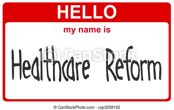 name healthcare reform - csp3258162