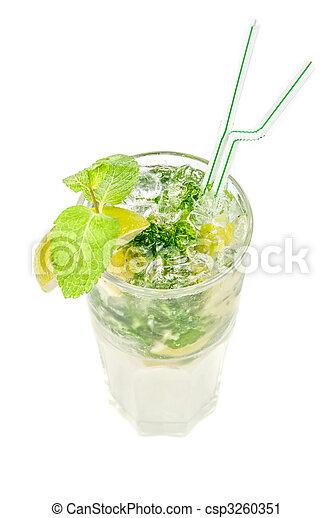 mojito alcohol fresh cocktail - csp3260351