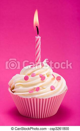 Birthday cupcake - csp3261800
