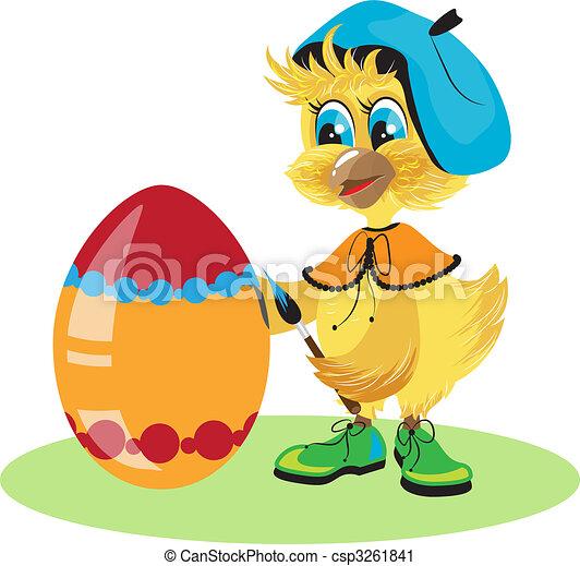 chicken egg dye for Easter - csp3261841