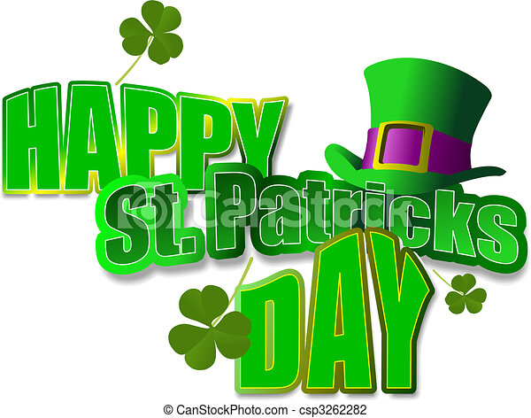 Leprechaun Hat. St. Patrick. Vector illustration - csp3262282