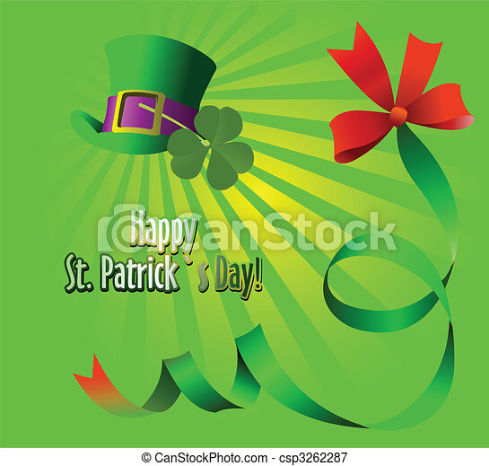 Leprechaun Hat. St. Patrick. Vector illustration - csp3262287
