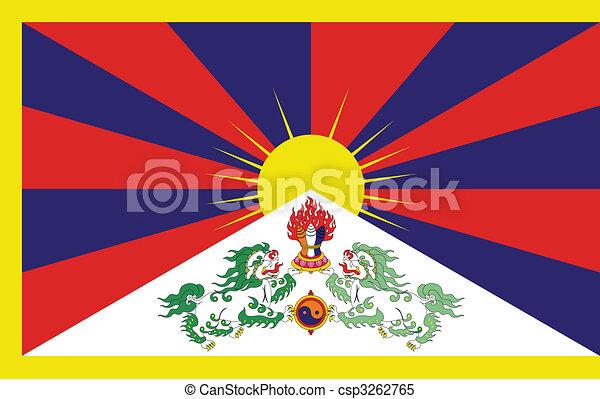Flag of Tibet - csp3262765