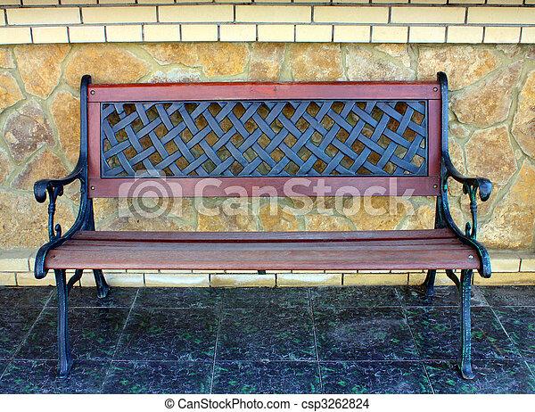 Wooden bench. - csp3262824