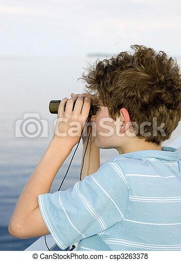 boy binoculars - csp3263378