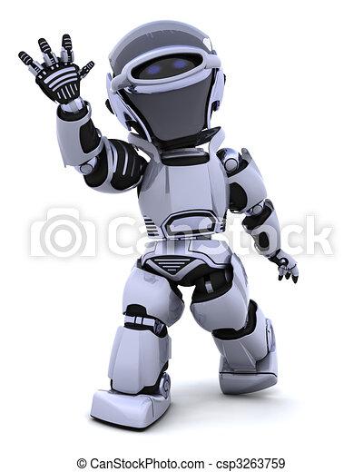 Robot waving - csp3263759