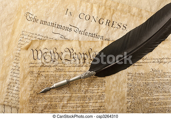 Close-up of the U.S. Constitution - csp3264310