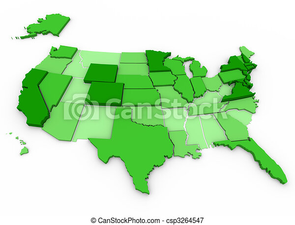 Per Capita Income - United States Map - csp3264547