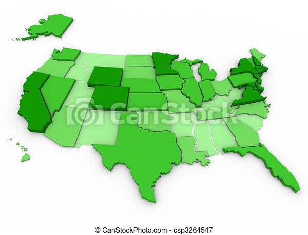 Per Capita Income - United States Map - csp3264547