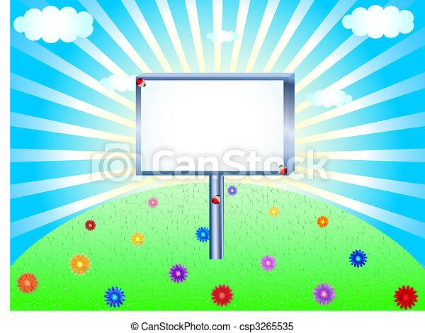 Publicity board - csp3265535