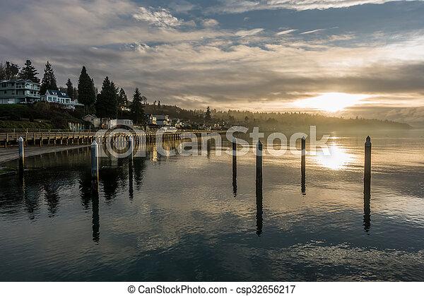 Redondo Beach Sunset - csp32656217