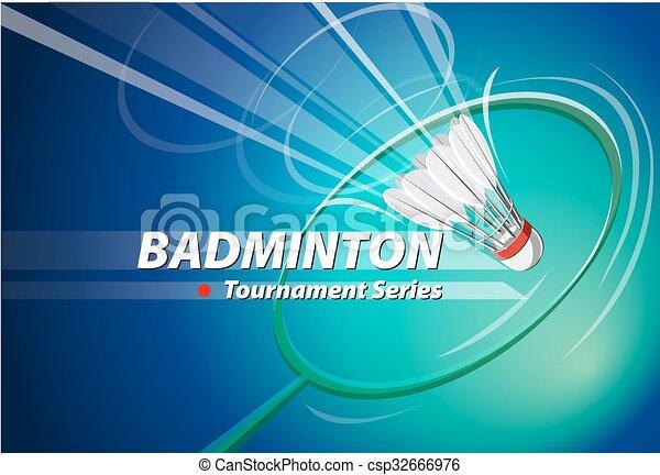 Vector Badminton tournament logo - csp32666976